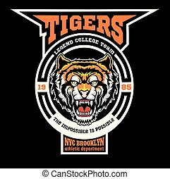 Mascot Tigers - sport team logo template.