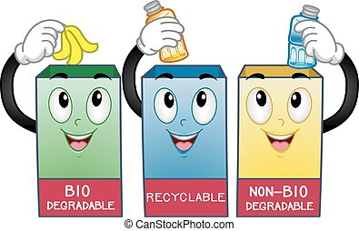 Mascot Trash Cans Recycle