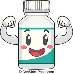 Mascot Vitamin Strong Illustration