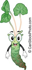 Mascot Wasabi - Mascot Illustration of a Happy and Healthy...