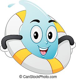 Mascot Water Drop Life Buoy