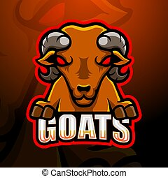 mascota, diseño, logotipo, esport, goat