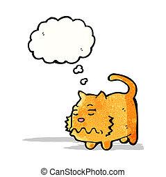 mascota, enfermo, caricatura