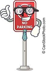 mascota, estacionamiento, aislado, no, hombre de negocios