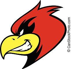 mascota, mueca, cardinal