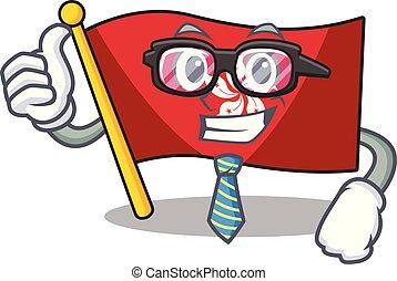 mascota, pared, hongkong, clings, hombre de negocios,...