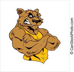 mascota, tatuaje, vector, tigre