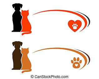 mascota, tienda, publicidad