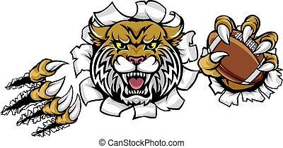mascota, wildcat, fútbol americano