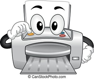 mascote, impressora