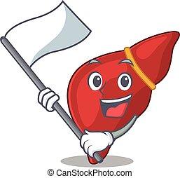 mascote, personagem, fígado, nacionalista, desenho, saudável...
