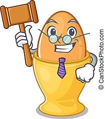 mascotte, caractère, oeuf, style, intelligent, dessin animé...