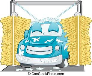 mascotte, lavaggio i automobile