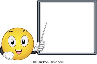 mascotte, smiley, planche, illustration, point