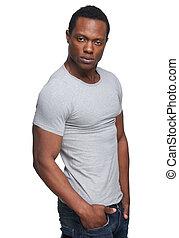 Masculine African American Man - Portrait of a masculine ...