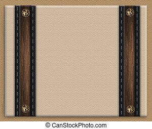 Masculine invitation border brown - Image and illustration...