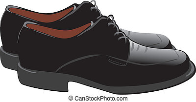 Masculine shoes. Vector illustration