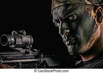 masculine soldier