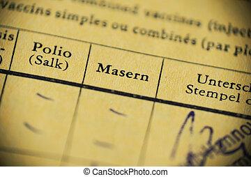 Masern is German for measles - international certificate of ...
