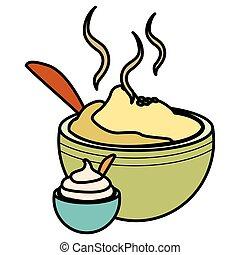 mashed potatoes design