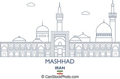 Mashhad City Skyline, Iran - Mashhad Linear City Skyline,...