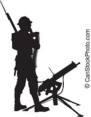 Mashine gunner. Warriors theme