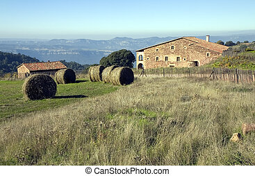 Masia ( typical rural house ) in Catalonia, Spain