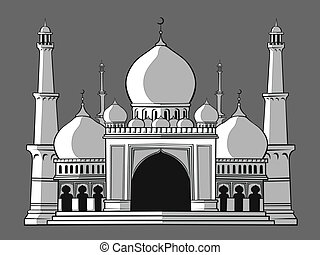 Masjid or Mosque - A vector image of a masjid/mosque...
