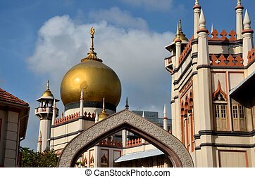 Masjid Sultan mosque Singapore - The main prayer hall can...