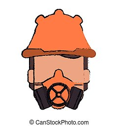 Mask and helmet of industrial security design