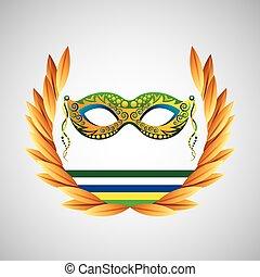 mask carnival brazil olympic games emblem