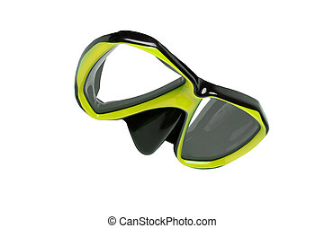 Mask for Diving isolated