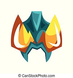 Mask for hero or villain vector Illustration on a white background