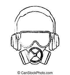 Mask glasses and headphone design