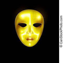 mask golden face