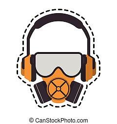 Mask headphone and glasses design