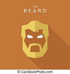 Mask Hero superhero flat style icon vector logos...