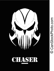 mask., hunter., claw., crâne, phantom., blanc, chaser., alien.