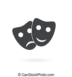 mask icon on the background , vector