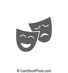 Mask icon on white background