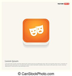 Mask Icon Orange Abstract Web Button
