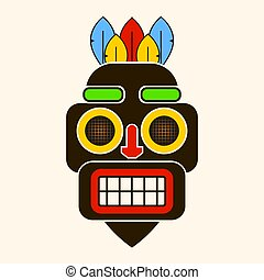 Mask Idol Icon. Cartoon Of Mask Idol Vector Icon