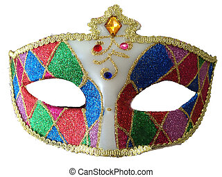 Mask in patchwork glitter - Masquerade mask in patchwork...