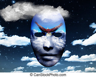 Mask in the sky