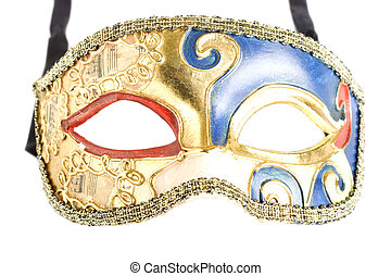 Mask. Isolated on white - picture of an old venetian mask....