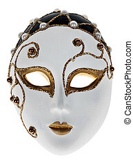 Isolated Venetian mask on a white background.