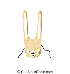 Mask of a cute hare. Vector illustration on white background.