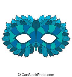 Mask of an owl. vector illustration. Drawing by hand.