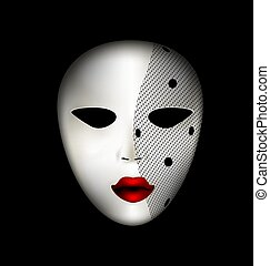 mask of face and veil