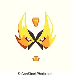 Mask of hero or villain face vector Illustration isolated on a white background
